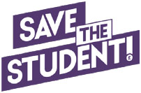 save the student logo